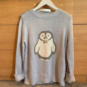 LC Lauren Conrad | Jeweled Penguin Sweater